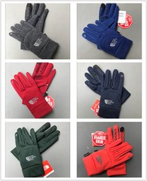 Wholesale Fashion Fleece Gloves Winter Touch Screen Gloves The North Men Women Outdoor Sports touch screen gloves Cycling Thick Soft Glove mittens M L