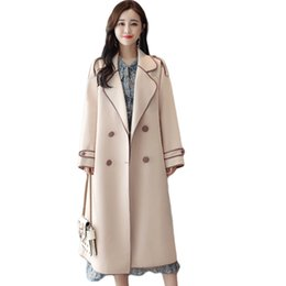 $enCountryForm.capitalKeyWord UK - Trench Coat For Womens 2018 New Spring Autumn Double-breasted Windbreaker Female Belt Slim Coat Plus Size Long Trench Tops D297