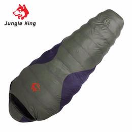 down envelope sleeping bags 2019 - Jungle King CY-660 Professional Duck Down Sleeping Bag Keep Warm Adult Camping Hiking Travel Envelope Style Sleeping Bag