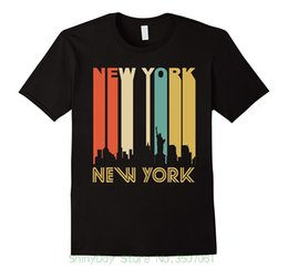 t shirt printing new york 2020 - Different Colours High Quality 100% Discount Wholesale970s New York City Cityscape Downtown Skyline T-shirt discount t s