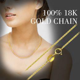 $enCountryForm.capitalKeyWord NZ - ZHIXI 18K Gold Jewelry Genuine 18K Yellow Gold Chain Long Real Au750 Necklace Pendant Wedding Party Gift For Women ZXX312 S18101105