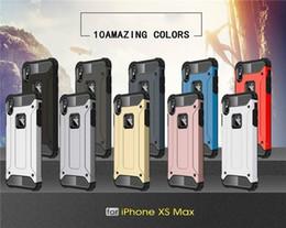Hybrid Slim Armor Iphone 5s Australia - For iPhone X 8 plus Xs Max Xr 7 plus 6S 6 5S SE 5 Case Hard Rugged Case Hybrid Armor Phone Cover Double Protect Slim