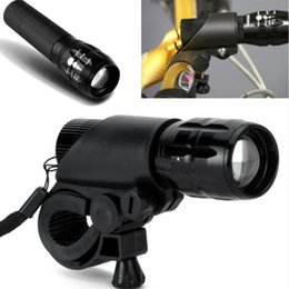 Wholesale W Q5 LED lm Aluminum Waterproof IP6 With Holder Front Cycling Bike Bicycle Lights Lamps Lantern Flashlight