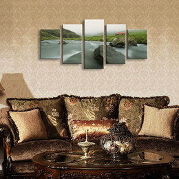 $enCountryForm.capitalKeyWord Australia - 5 pieces high-definition print landscape canvas oil painting poster and wall art living room picture PL5-127