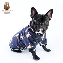 $enCountryForm.capitalKeyWord NZ - New Winter Dog Clothing Thickens and Warm Cartoon Pattern Two Feet French Bulldog Clothes Small Dogs Coat Jacket