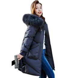 $enCountryForm.capitalKeyWord NZ - Women Down Parka Winter Jacket Duck Down Coats Big Fur Collar Female Plus Size Clothing Thicken Warm Tops Overcoat Army Green