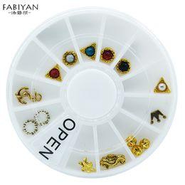 Crafting Gems Australia - 12 Style 3D Tips Nail Art Wheel Metal Pearl Jewelry Gems Studs Crown DIY Decoration Phone Manicure Accessories Salon Tools Craft