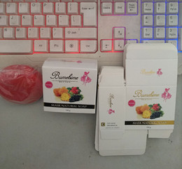 Toptan satış Bumebime El İşi Beyazlatma Sabun ile Meyve Uçucu Doğal Maske Beyaz Parlak Yağ Sabun ücretsiz shiping DHL