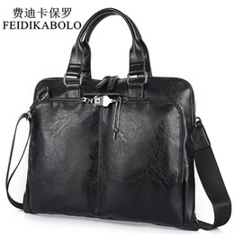 Leather computer bags online shopping - BOLO Business Briefcase Leather Men Bag Computer Laptop Handbag Man Shoulder Bag Messenger Bags Men s Travel Bags Black Brown