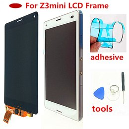 $enCountryForm.capitalKeyWord Australia - Original Screen For Sony  Z3 Compact LCD Touch Display D5803 D5833 Digitizer + Frame for Sony z3 mini Screen Replacement