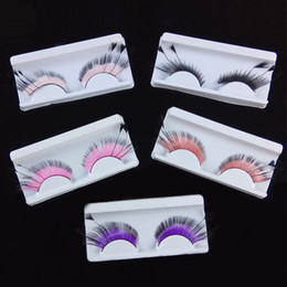 136a73f04d9 Fashion Women New Feather False Eyelashes Makeup Eye Tail Extended Drama  Stage Art Form Party Long Women Makeup Tools