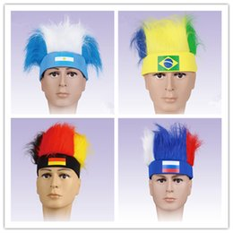 brazil flags NZ - Hot Sale New Arrived The 2018 Russia Football Germany Brazil Peru Fans Theme Party Flag Pattern Hats