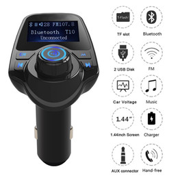 Bluetooth Car Kit vivavoce FM Trasmettitore Car Trasmettitore FM Bluetooth T11 Caricatore doppio USB A2DP Wireless Car MP3 Player on Sale