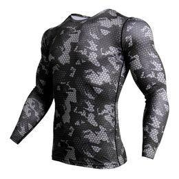 $enCountryForm.capitalKeyWord Australia - Compression Shirt Men Camouflage Long Sleeve Tight Tee Shirt Men Fitness 3D Quick Dry Clothes MMA Rashguard Gyms Camo T-Shirt