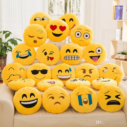 $enCountryForm.capitalKeyWord NZ - 33CM Emoji Plush toys Stuffed Pillows 13inch dolls kawaii juguetes anime Smile Angry Cry Kiss HAPPY beds for kids Toy dorimytrader cartoon