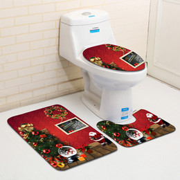 $enCountryForm.capitalKeyWord NZ - New 3 PCS Toilet Seat Cover christmas bathroom set Anti-slip Bath Mats Washable toilet cover Bathroom Accessories toilet mat set