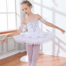 ballerina tutu kids UK - Professional White Swan Lake Ballet Tutu Costume Girls Children Ballerina Dress Kids Ballet Dress Dancewear Dance Dress For Girls 6Color 003