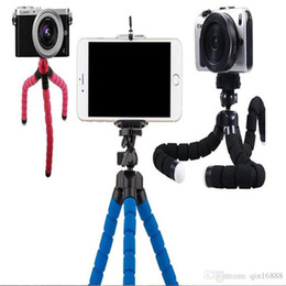 Tripé flexível Tripé Para Câmera Do Carro Do Telefone Celular Gopro Universal Mini Octopus Esponja Suporte Suporte Selfie Monopé Montagem Com Clipe