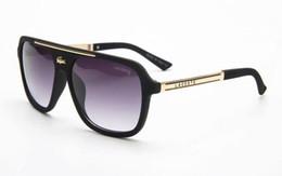 Envío gratis Moda de marca de lujo prueba gafas de sol retro vintage hombres diseñador de la marca marco de oro brillante láser logo mujeres de calidad superior con 40367