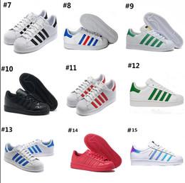 save off 2e0d2 2cb96 AD03-3 Adidas Superstar 80s sneakers caliente 2018 moda para hombre zapatos  casuales superestrella smith stan zapatos planos femeninos mujeres  Zapatillas ...