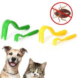 Ingrosso Nuovo strumento di rimozione della zecca Twister Remover per cani umani Ticks Twist Set indolore da 2 pz