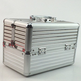 $enCountryForm.capitalKeyWord NZ - Aluminum frame ABS plate cosmetic case woman suitcase professional beauty nail box handbag multilayer travel luggage bag outdoor Toolbox