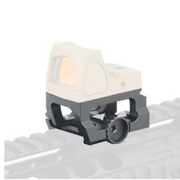 Nova chegada Tactical Riser Mount para RMR Red Dot Sight Scope Para Caça Preto em Promoção