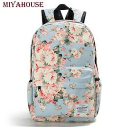 $enCountryForm.capitalKeyWord Canada - Miyahouse Women Canvas Backpacks For Teenage Girls Travel Rucksack Fashion School Bags For Girls Floral Printing Backpack WomenY1883106
