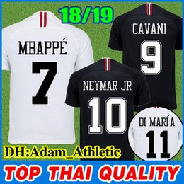 Champions league 18 19 paris soccer jersey Saint German MBAPPÉ CAVANI DI  MARÍA VERRATTI BUFFON black white red PSG football jerseys shirts e3abe5d84