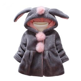 Discount pink faux fur coat girls - Winter Coat Autumn Warm Newborn Baby Girl Jackets And Coats Faux Fur Kids Winter Tops For Girls Hoody Coats