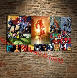 Comics Superheroes Canvas Pieces Home Decor HD Printed Modern Art Painting On Unframed Framed