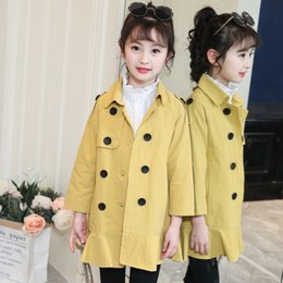 $enCountryForm.capitalKeyWord Australia - Spring Double Breast Jackets And Coats For Girls 2018 Princess Outwear Tie Toddler Windbreaker Baby Girls Coat Children Clothing