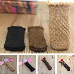 table feet covers 2019 - new style Chair Foot Cover Knitted Furniture Table Legs Sleeve Non Slip Floor Knitting chair socks T5I086 discount table