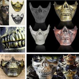 Protective face mask skull online shopping - New Retro CS D Skull Skeleton Lower Half Face Protective Horror Skull Mask For Halloween Carnival Party Gift Party Masks I303