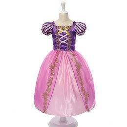 China Europe and the United States summer new short-sleeved lace dress dress girls wear, all kinds of princess dress up clothing cheap wholesale dresses united states suppliers