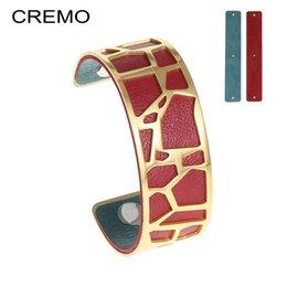 Giraffes bracelet online shopping - Cremo Giraffe Bangles For Women Stainless Steel Bracelet Manchette Femme Love Bracelets Leather Gold Bangle Pulseiras Jewelry