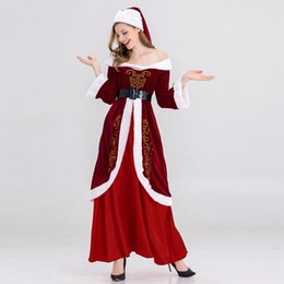 $enCountryForm.capitalKeyWord UK - 2018 NightClub Bar Party Seduction of Uniform Sexy Christmas Santa Claus Cospaly Costume DS Stage Dress Disco Holiday Coat 8313