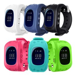 AlArm sim online shopping - Q50 Kids LBS Locator Tracker Smart Wristband Watch SOS Call Anti lost Alarm Remote Monitor Smartwatch Support SIM Card For iOS Android