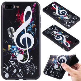 $enCountryForm.capitalKeyWord NZ - Hot Sale 10 Color Model Black Phone Back Case For Iphone 7 plus 8 plus TPU 3D Relief Frosted Black Phone Case A038