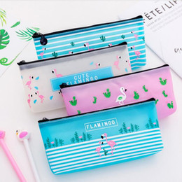 cute waterproof bag Australia - cute candy pencil bags korean waterproof flamingo pencil cases storage organizer pen bags pouch pencil bags school supply stationery