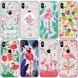 $enCountryForm.capitalKeyWord NZ - Phone Case For iphone X 6 6S 7 8 Plus 5S Samsung Galaxy S7 S8 S9 Plus Note 8 Lovely Cartoon Flamingos Soft TPU Painted Back Silicone Cover
