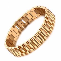 China Top Polishing New Cool Men Boy Gold 316L Stainless Steel Strap Bracelet Bangle Men 22cm Length Bracelet Lucky Jewelry supplier lucky gold chains men suppliers