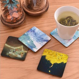 $enCountryForm.capitalKeyWord NZ - CFen A's 1 pc High Quality Wood Coasters Cup drinks Holder Non-slip heat proof coffee drink Coasters Mat Pad hand painted