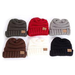 $enCountryForm.capitalKeyWord Australia - Fashion New Hot 1 Pc Hat Toddler Kids Girl Boy Baby Winter Warm Crochet Knit Hat Children Ski Beanie Cap High Quality 6 Colors