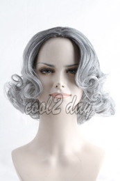grey woman wig 2019 - Freeshipping havana african american woman >>Women's Short Black root Grey Ombre Wig Synthetic Cosplay Anime