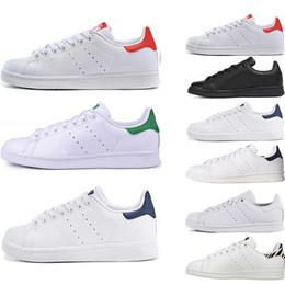 separation shoes cf047 b0f17 Smith Moda stan zapatos de calidad superior Smith Marca para mujer para  hombre de cuero casual zapatillas deportivas Skateboard zapatillas tamaño  eur 36-45