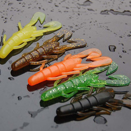 Silicone Jig Bait Australia - 20pcs 5g 85mm soft bait sea fishing tackle wobbler jigging fishing lure silicone bait soft worm shrimp