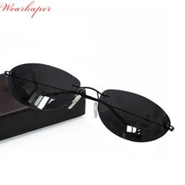 1bc0e1595f0f WEARKAPER Ultralight Matrix Morpheus Sunglasses Steampunk Movie Eyewear men  Rimless Classic Oval glasses Oculos Gafas De Sol