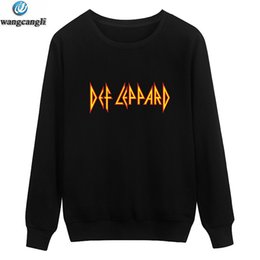 Design Men S Tracksuit Canada - Def Leppard Rock Roll Musical Band Design Hoodies Men Luxury Music Star fans Idol Mens Hoodie and Sweatshirt Hip Hop Tracksuit
