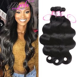 Brazillian Weave Hair NZ - 8A Mink Brazillian Body Wave Straight Unprocessed Brazilian Human Hair Brazilian Body Wave Straight Hair Weave Bundles